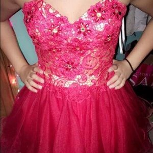 Dresses & Skirts - Red one piece homecoming dress!
